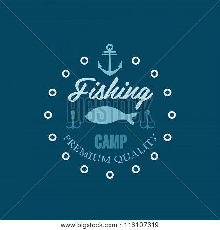 Fishing Camp Logo. Vector Illustration