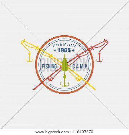Fishing Camp Logotype. Vector Illustration