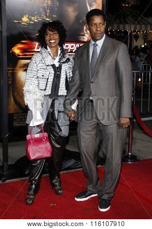 Denzel Washington and Pauletta Washington at the Los Angeles Premiere of