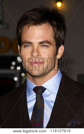 WESTWOOD, CALIFORNIA - October 26, 2010. Chris Pine at the Los Angeles premiere of