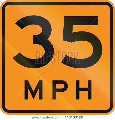 Temporary Road Control Version - Speed Limit