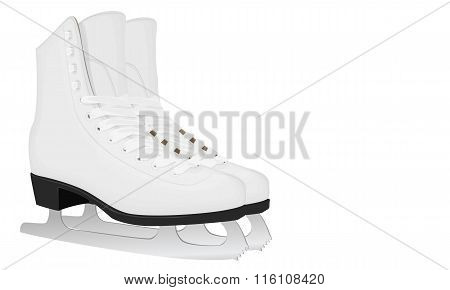 White Skates For Figure Skating