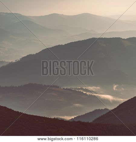 Layers of mountain