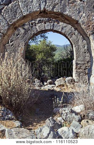 Gemiler island ruins, Turkey