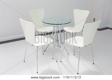Modern Table And Chairs In Lobby