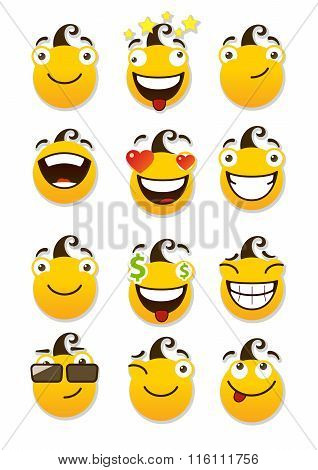 Set Of Smileys