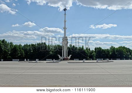 Admiralty square in Voronezh