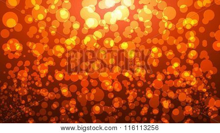 Glowing Orange Autumn Background