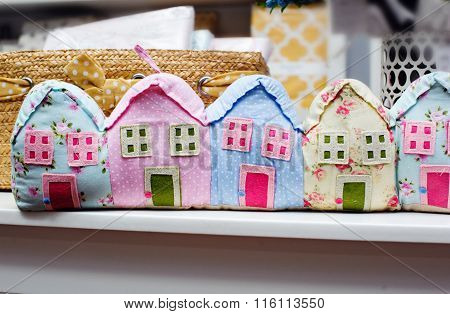 Beautiful Colorful Houses, Sewn From Fabric
