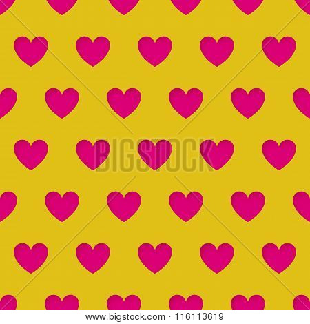Valentine's Day Seamless Pattern With Carved Hearts