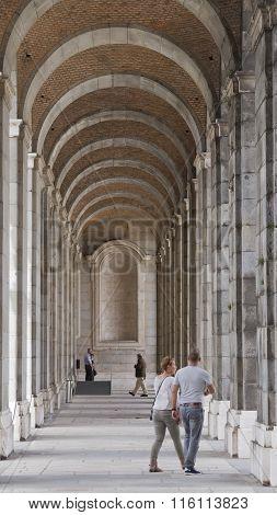 Madrid's Royal Palace Arcade