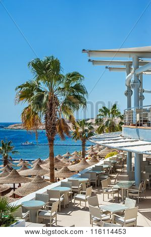 Sharm El Sheikh, Egypt, March 5, 2013: view of the beach at the Concorde El Salam Sport