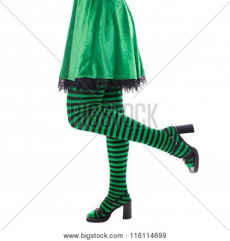 Legs From A Leprechaun Or Witch, Concept St. Patrick´s Day Or Carnival