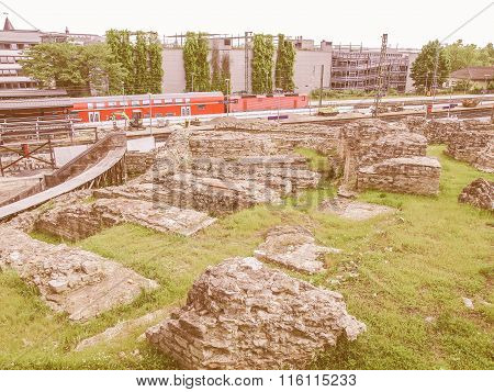 Roman Theatre In Mainz Vintage