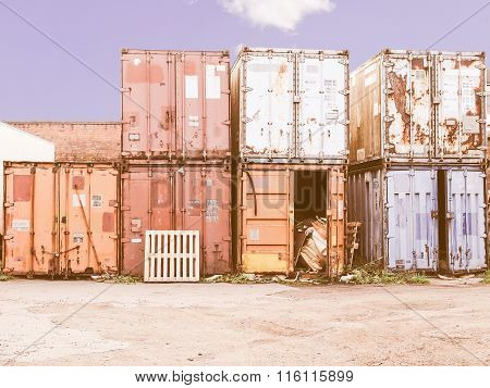 Shipping Containers Vintage