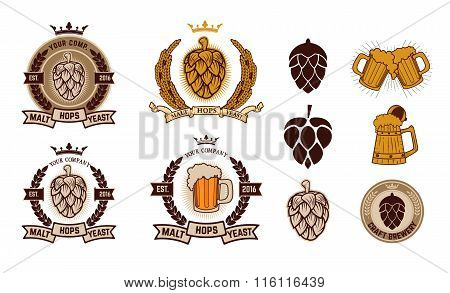 Craft Brewery. Beer Labels.