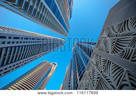 Skyscrapers On A Background Of Blue Sky
