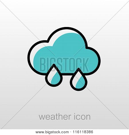 Rain Cloud Icon. Meteorology. Weather