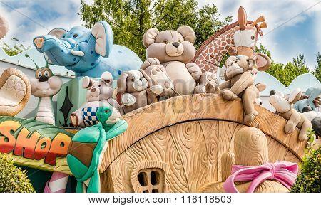 Gardaland Theme Park In Castelnuovo Del Garda, Italy.