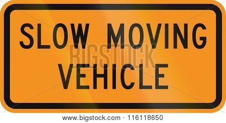 United States Mutcd Road Sign - Slow Moving Vehicle