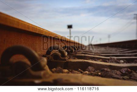 Anchor Rail Equipment. Selective Focus