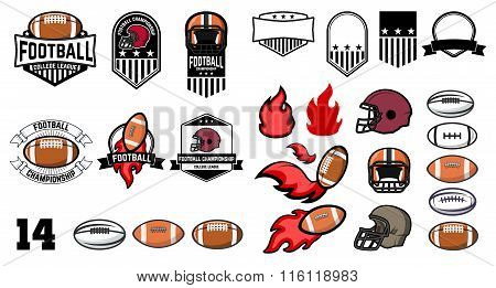 Football Emblems Design Elements