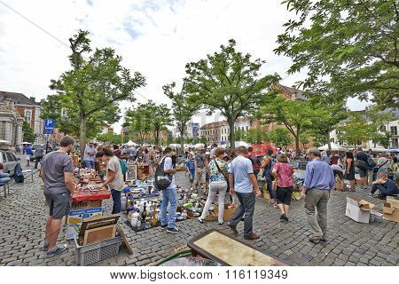 Flea Market At Place Du Jeu De Balle, Brussels