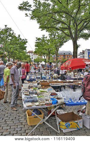 Flea Market At Place Du Jeu De Balle, Brussels