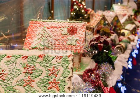 Gingerbread Houses In Christmas Decoration
