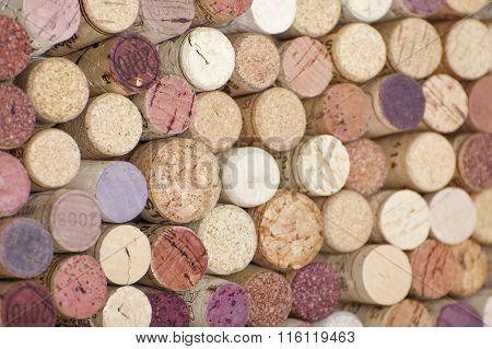 Wine Corks. Background..