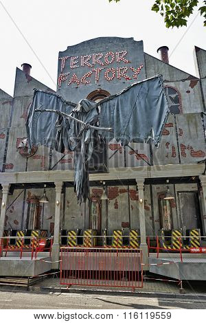 Haunted-house In The Biggest Fun Fair In Brussels