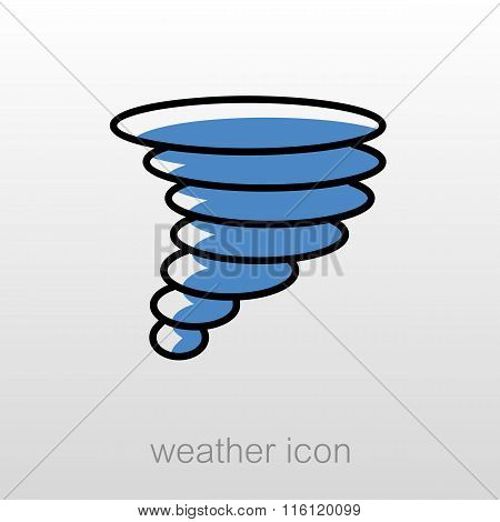 Tornado Whirlwind Icon. Meteorology. Weather