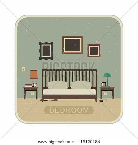 Bedroom with furniture.
