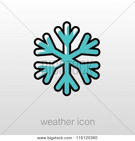 Snowflake Snow Icon. Meteorology. Weather