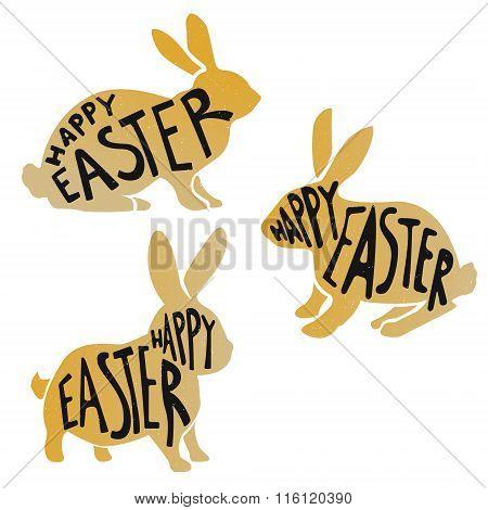 Golden Easter Rabbits