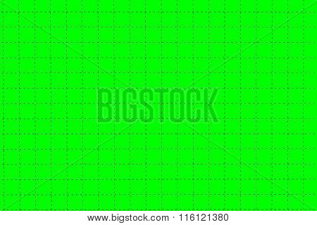Green Plastic Board With Dotted Line Like As Graph Paper