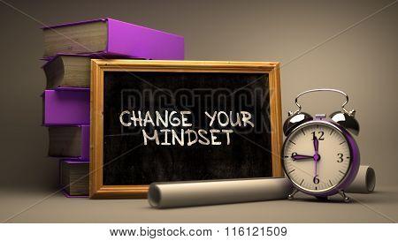 Change Your Mindset Concept Hand Drawn on Chalkboard.