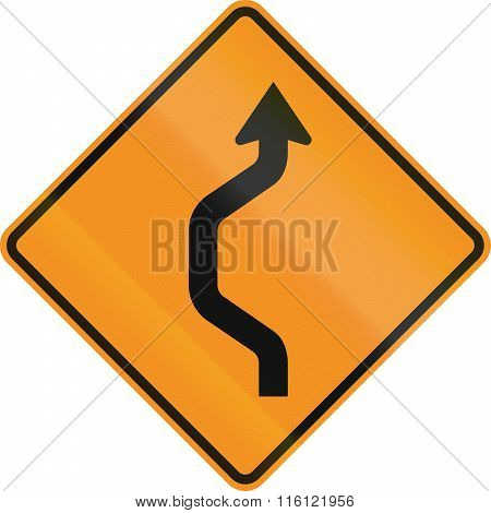 United States Mutcd Road Sign - Road Deviation