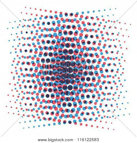 Pop Art style vector dots or pop art background element. Pop Art grid dots illustration. Comic style bubble background template