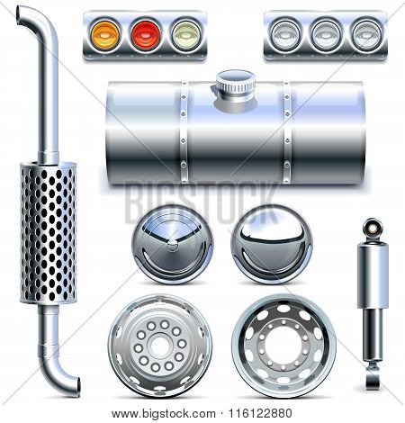 Vector Chromed Truck Parts Set 1