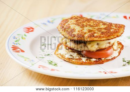 potato pancakes with meat