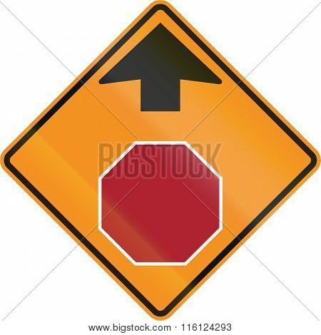Temporary Road Control Version - Stop Ahead