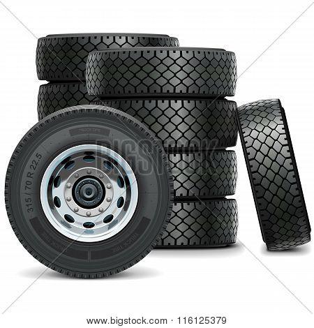 Vector Truck Tires