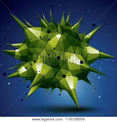 Vector Digital 3D Abstraction, Colorful Lattice Geometric Polygonal Element, Perspective Wireframe