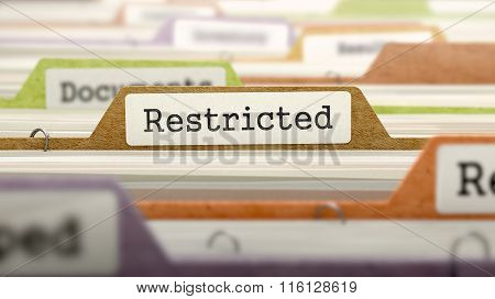 Restricted Concept on Folder Register.