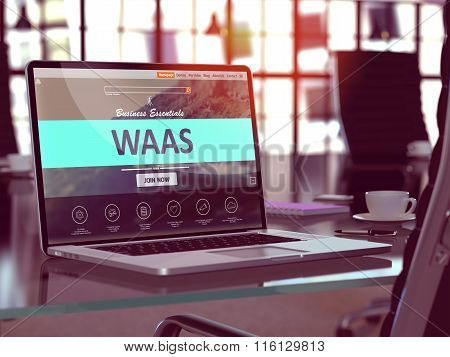 WAAS Concept on Laptop Screen.