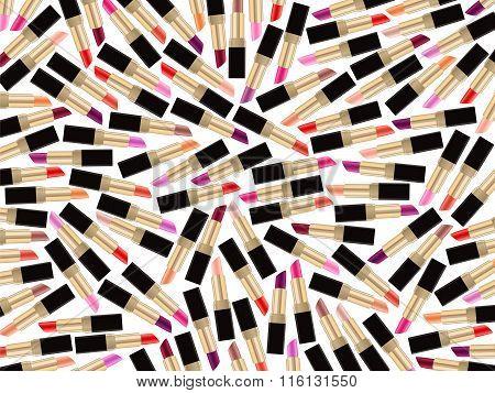 Lipstick Beauty Background Lip Gloss Woman Style White