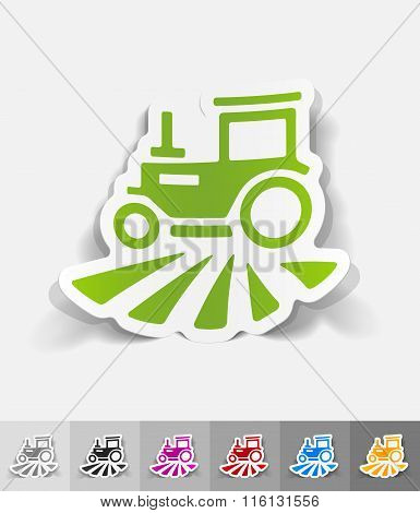 realistic design element. tractor