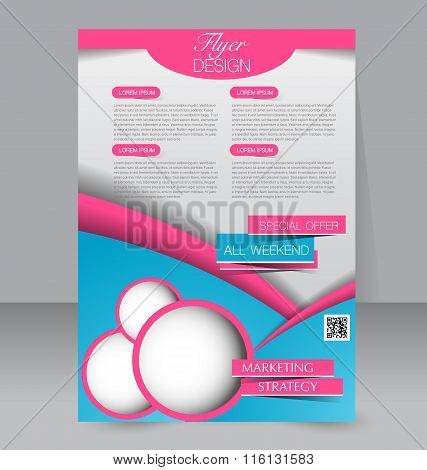 Flyer, Brochure, Magazine Cover Template Design