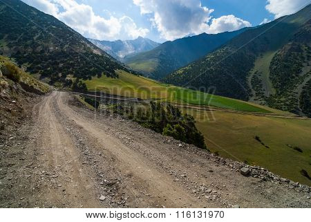 Road In High Mountains